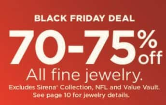 Kohl's Black Friday: Fine Jewelry in Select Styles - 70 - 75% Off