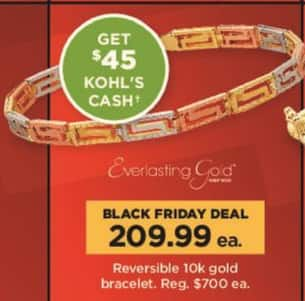 Kohl's Black Friday: Reversible 10k Gold Bracelet + $45 Kohl's Cash for $209.99