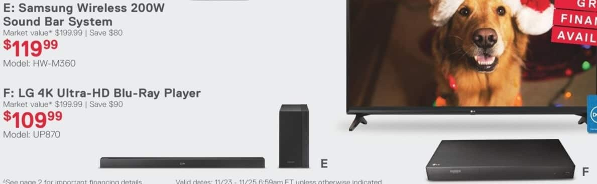 Dell Home & Office Black Friday: Samsung HW-M360 Wireless 200W Sound Bar System for $119.99