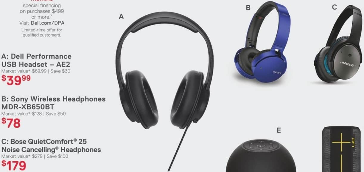 Dell Home & Office Black Friday: Dell Performance AE2 USB Headset for $39.99