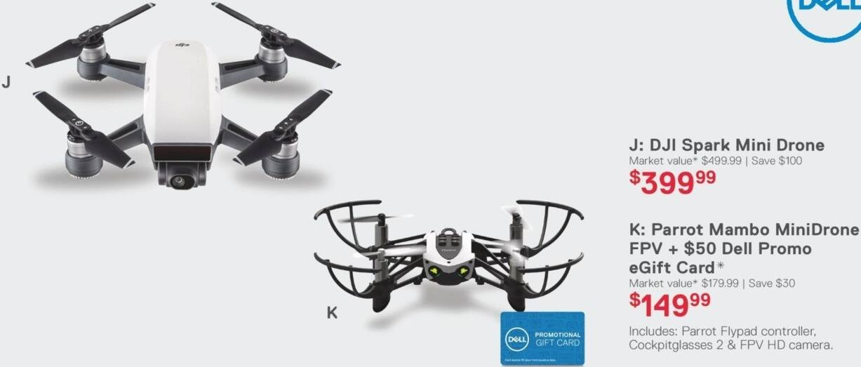 Dell Home & Office Black Friday: DJI Spark Mini Drone for $399.99