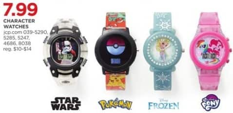 JCPenney Black Friday: Character Watches, Select Styles for $7.99