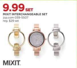 JCPenney Black Friday: Mixit Women's Watch with Interchangeable Band Set for $9.99
