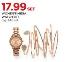 JCPenney Black Friday: Women's Mega Watch Set for $17.99