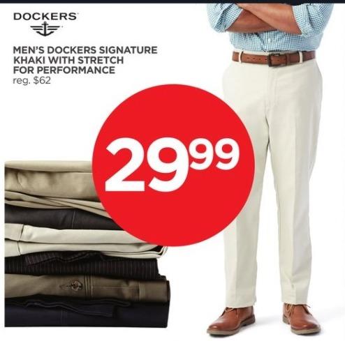 JCPenney Black Friday: Dockers Men's Signature Khaki Pants for $29.99