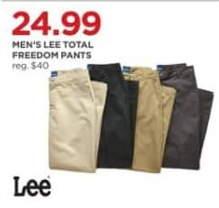JCPenney Black Friday: Lee Men's Total Freedom Pants for $24.99