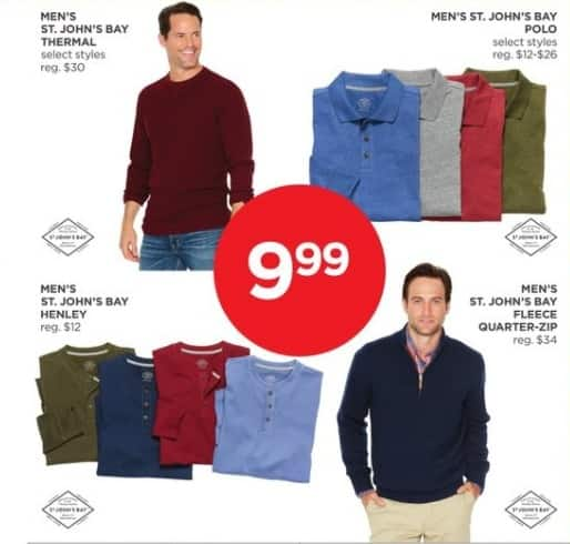 JCPenney Black Friday: St. John's Bay Men's Quarter-zip Fleece for $9.99
