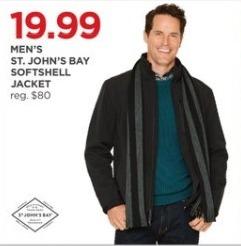 JCPenney Black Friday: St. John's Bay Men's Softshell Jacket for $19.99