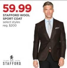 JCPenney Black Friday: Stafford Men's Wool Sport Coat, Select Styles for $59.99