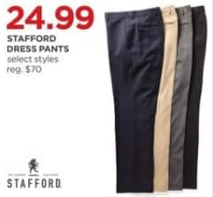 JCPenney Black Friday: Staford Men's Dress Pants, Select Styles for $24.99