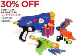 JCPenney Black Friday: Nerf Toys, Select Styles - 30% Off