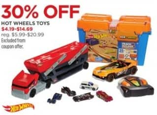 JCPenney Black Friday: Hot Wheels Toys, Select Styles - 30% Off