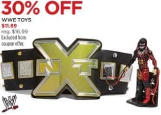 JCPenney Black Friday: WWE Toys, Select Styles for $11.89
