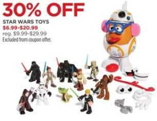 JCPenney Black Friday: Star Wars Toys, Select Styles - 30% Off