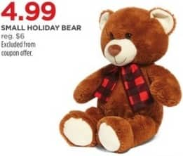 JCPenney Black Friday: Small Holiday Bear for $4.99