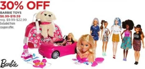 JCPenney Black Friday: Barbie Toys, Select Styles for $6.99 - $19.59