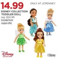 JCPenney Black Friday: Disney Collection Toddler Doll for $14.99