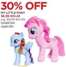 JCPenney Black Friday: My Little Pony, Select Styles for $6.99 - $10.49