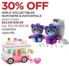 JCPenney Black Friday: Num Noms and Hatchimals Girls' Collectibles, Select Styles for $23.09 - $39.99