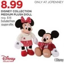 JCPenney Black Friday: Disney Collection Medium Plush Doll for $8.99