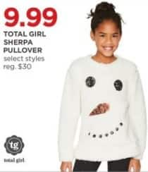 JCPenney Black Friday: Total Girl Girl's Sherpa Pullover, Select Styles for $9.99