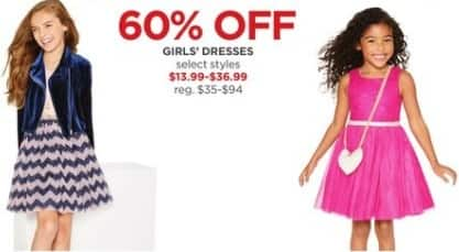 JCPenney Black Friday: Girls' Dresses, Select Styles - 60% Off