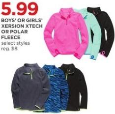 JCPenney Black Friday: Xersion Boys' or Girls' XTech or Polar Fleece, Select Styles for $5.99
