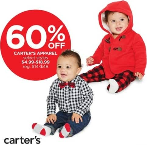JCPenney Black Friday: Carter's Kids Apparel, Select Styles for $4.99 - $18.99