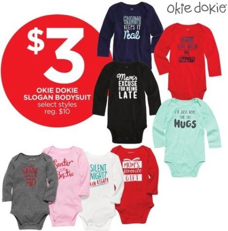 JCPenney Black Friday: Okie Dokie Baby Slogan Bodysuit, Select Styles for $3.00