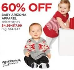 JCPenney Black Friday: Arizona Baby Apparel, Select Styles for $4.99 - $17.99
