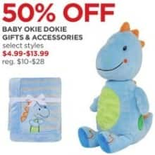 JCPenney Black Friday: Okie Dokie Baby Gifts and Accessories, Select Styles for $4.99 - $13.99