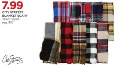 JCPenney Black Friday: City Streets Blanket Scarf, Select Styles for $7.99