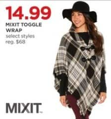 JCPenney Black Friday: Mixit Toggle Wrap, Select Styles for $14.99