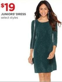 JCPenney Black Friday: Juniors' Dress, Select Styles for $19.00