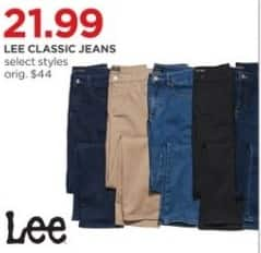 JCPenney Black Friday: Lee Women's Classic Jeans, Select Styles for $21.99