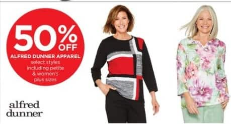 JCPenney Black Friday: Alfred Dunner Women's Apparel, Select Styles - 50% Off