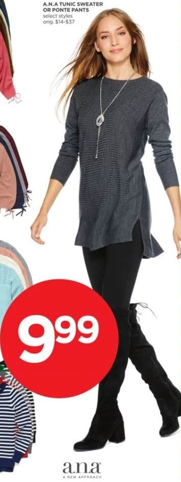 JCPenney Black Friday: A.N.A. Women's Tunic Sweater or Ponte Pants for $9.99