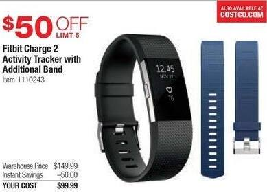 Costco Wholesale Black Friday: Fitbit Charge 2 Activity Tracker w/ Additional Band for $99.99