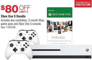 Costco Wholesale Black Friday: Xbox One S Bundle - $80 Off