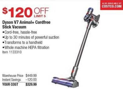 Costco Wholesale Black Friday Dyson V7 Animal Cordfree