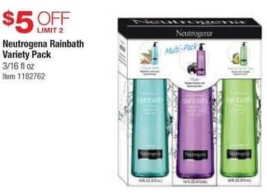Costco Wholesale Black Friday: Neutrogena Rainbath Variety Pack - $5 Off