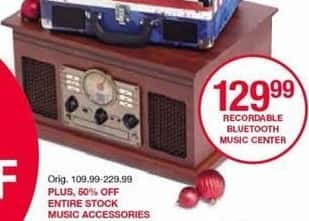 Belk Black Friday: Recordable Bluetooth Music Center for $129.99