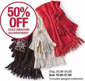 Belk Black Friday: Cold Weather Accessories in Select Styles - 50% Off