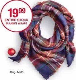 Belk Black Friday: Entire Stock Blanket Wraps for $19.99