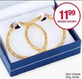 Belk Black Friday: Boxed Hoop Earrings for $11.99