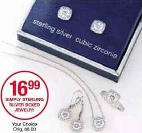 Belk Black Friday: Simply Sterling Silver Boxed Jewelry for $16.99