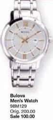 Belk Black Friday: Bulova Men's Stainless Steel Watch for $100.00