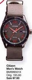Belk Black Friday: Citizen Men's Eco-Drive Khaki Nylon Watch for $97.50