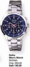 Belk Black Friday: Seiko Men's Stainless Steel Blue Dial Chronograph Watch for $130.00