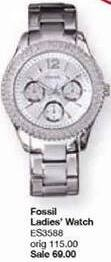 Belk Black Friday: Fossil Women's Stainless Steel Stella Watch for $69.00